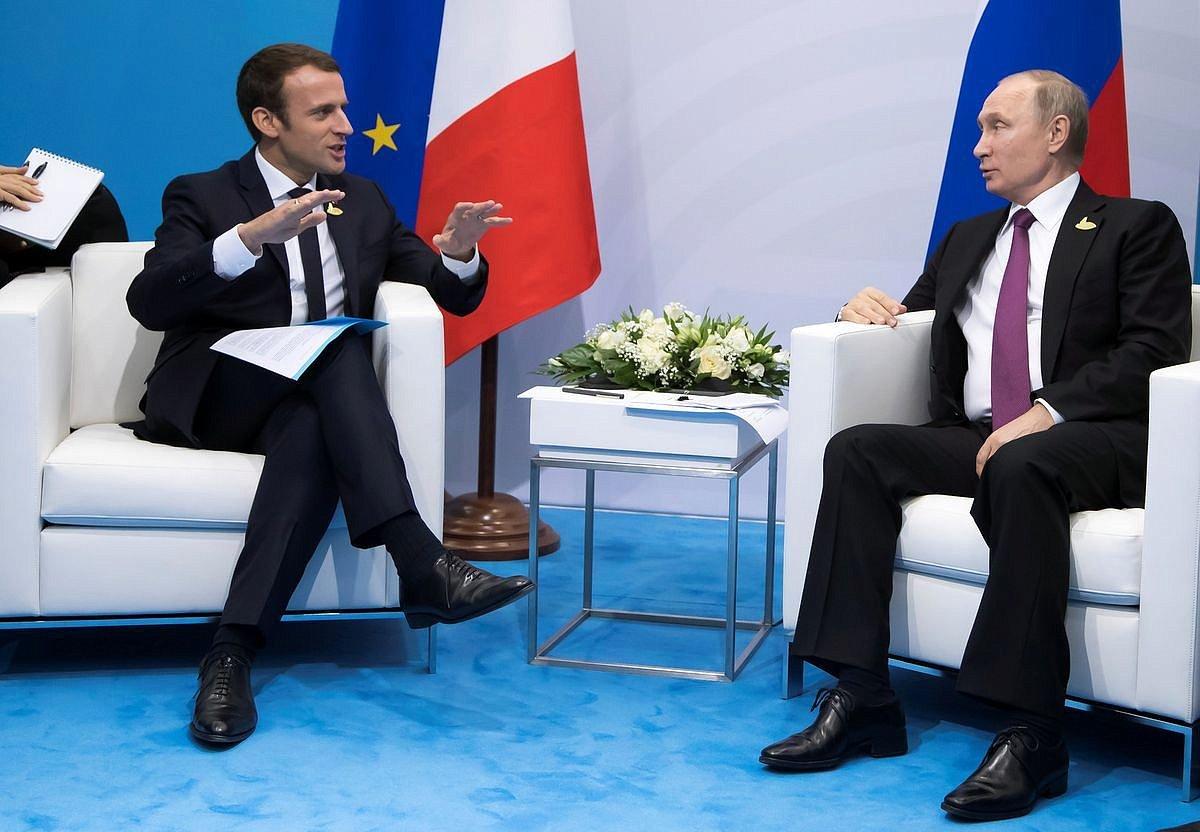 Макрон назвал себя «ровней Путину»