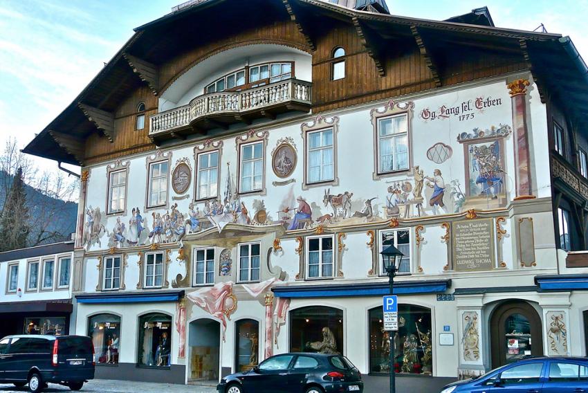 Бавария дома с росписью
