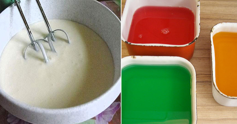 торт битое стекло с желе и фруктами