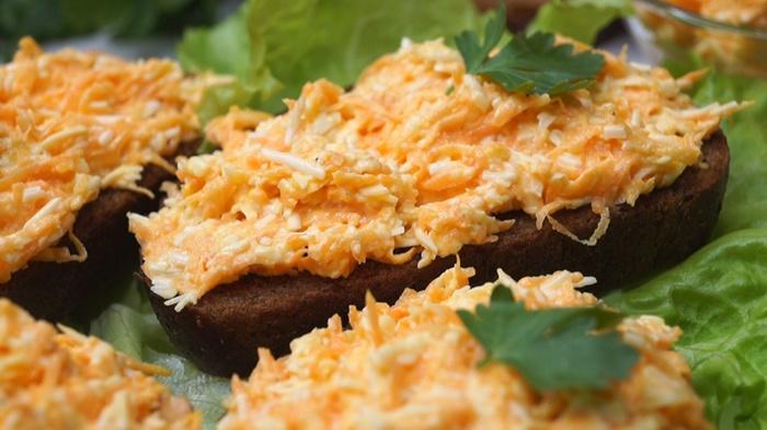 Закуска намазка из моркови и сыра закуска, Быстрая закуска, рецепт, видео рецепт, видео