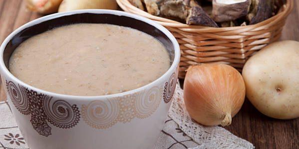 Рецепт: Крем-суп с шампиньонами и картофелем
