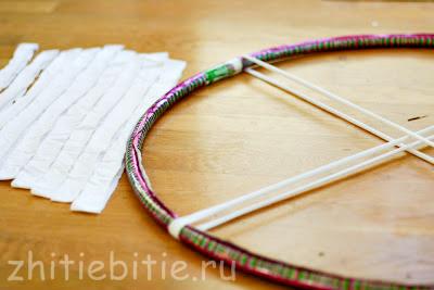 Вязание на пальцах (продолжение). Плетение декоративного коврика (+фото)