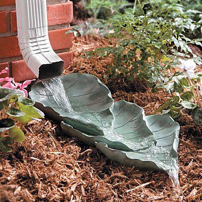 Оригинальные камни для садовых дорожек, фонтанчики, садовые ручейки  и поилки для птиц своими руками