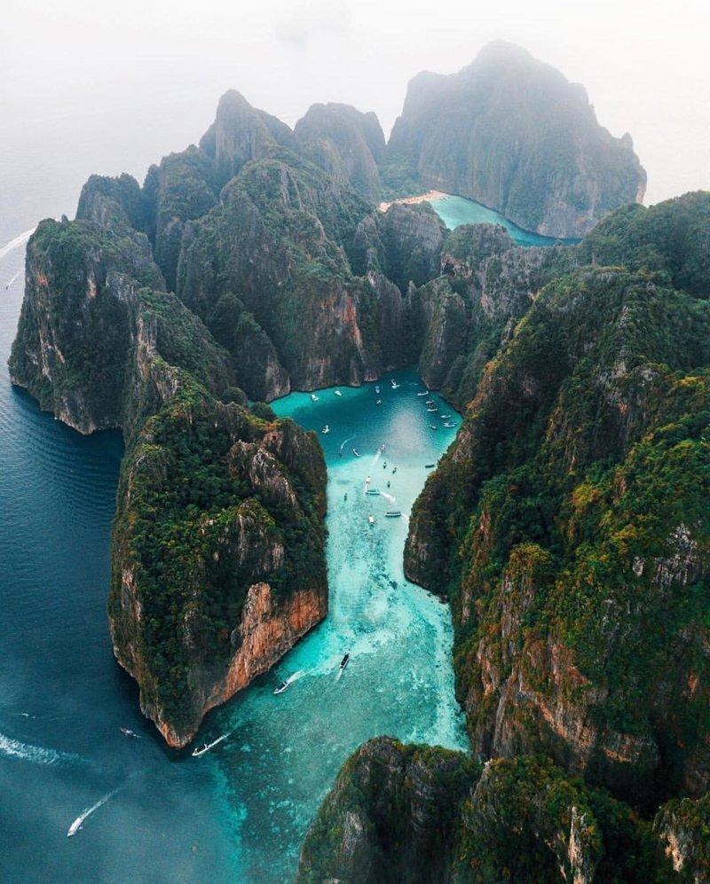 Maya Bay, Thailand красивые места, мир, планета, природа, путешествия
