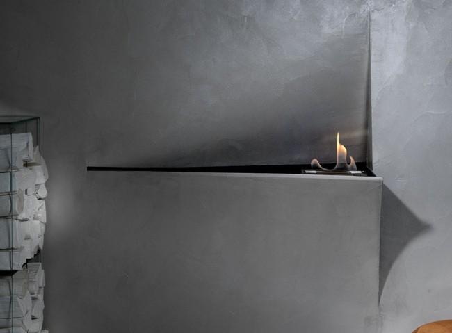Незаметный камин для современного интерьера