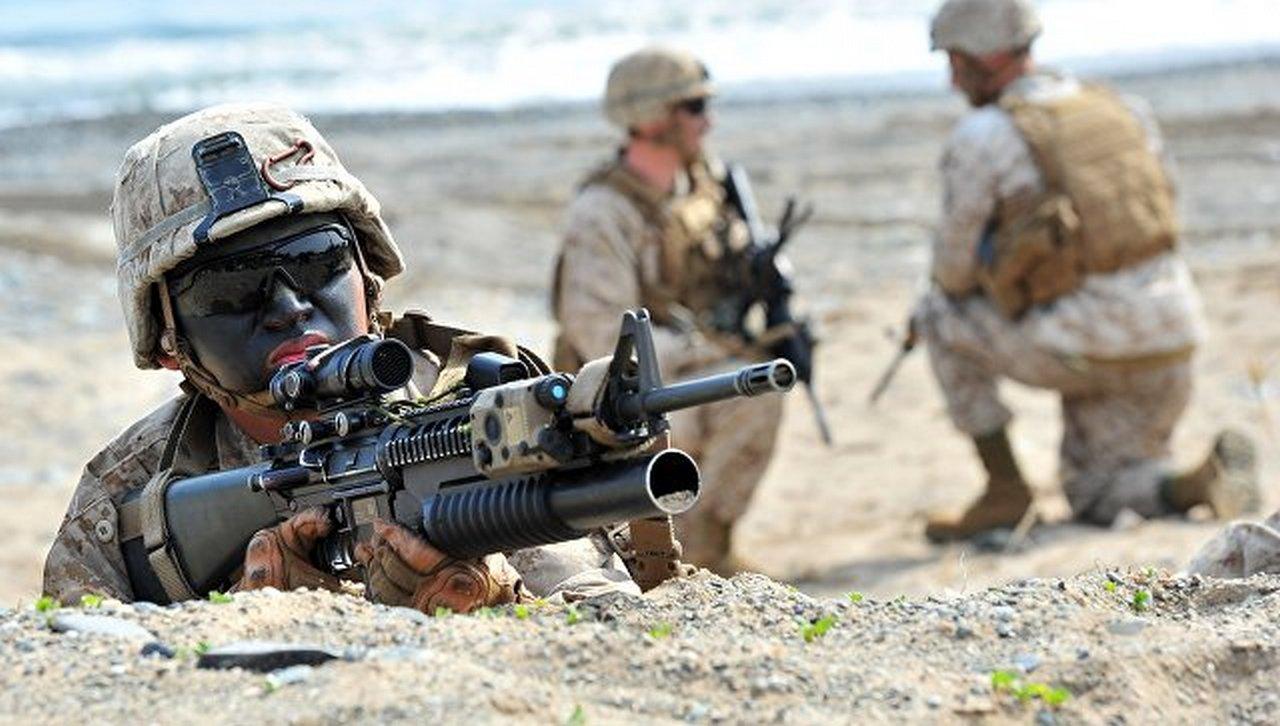Учения Морской пехоты США в …
