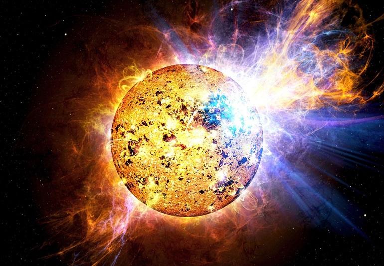 Странный взрыв зафиксирован на обратной стороне Солнца
