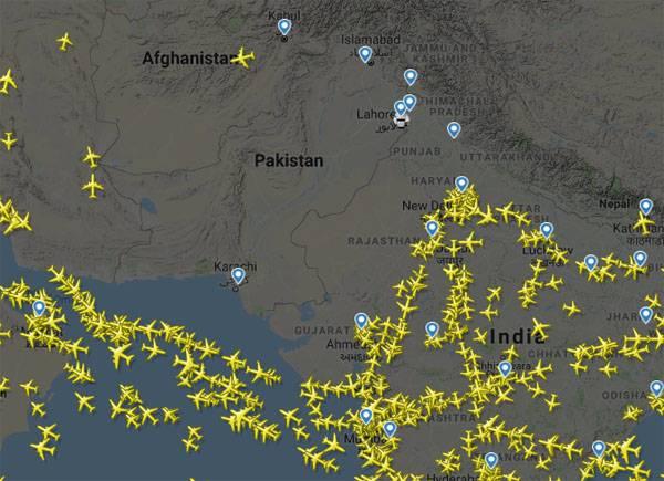 Обстановка в небе над Пакистаном и севером Индии - перевозчики несут убытки