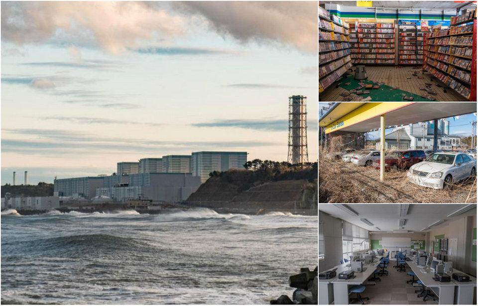 Заброшенные улицы Фукусимы спустя семь лет после ядерной катастрофы