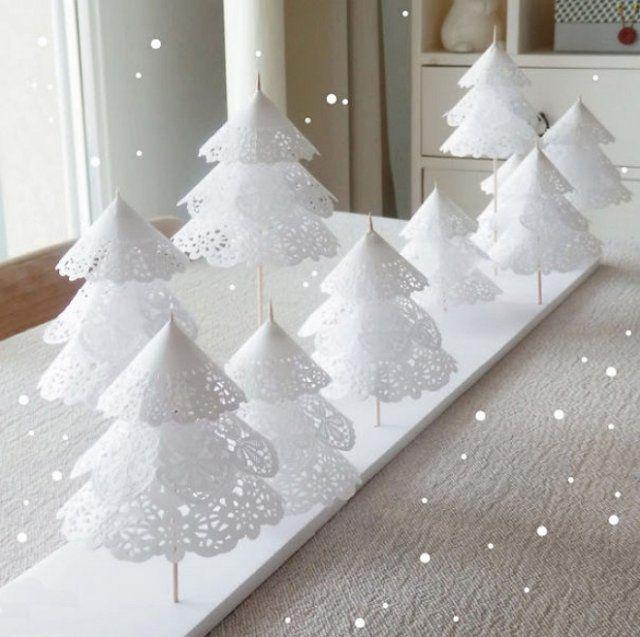 Елка из бумажных снежинок