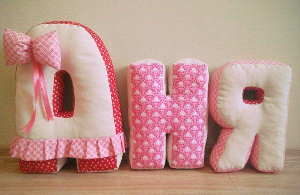 Оригинальные буквы-подушки