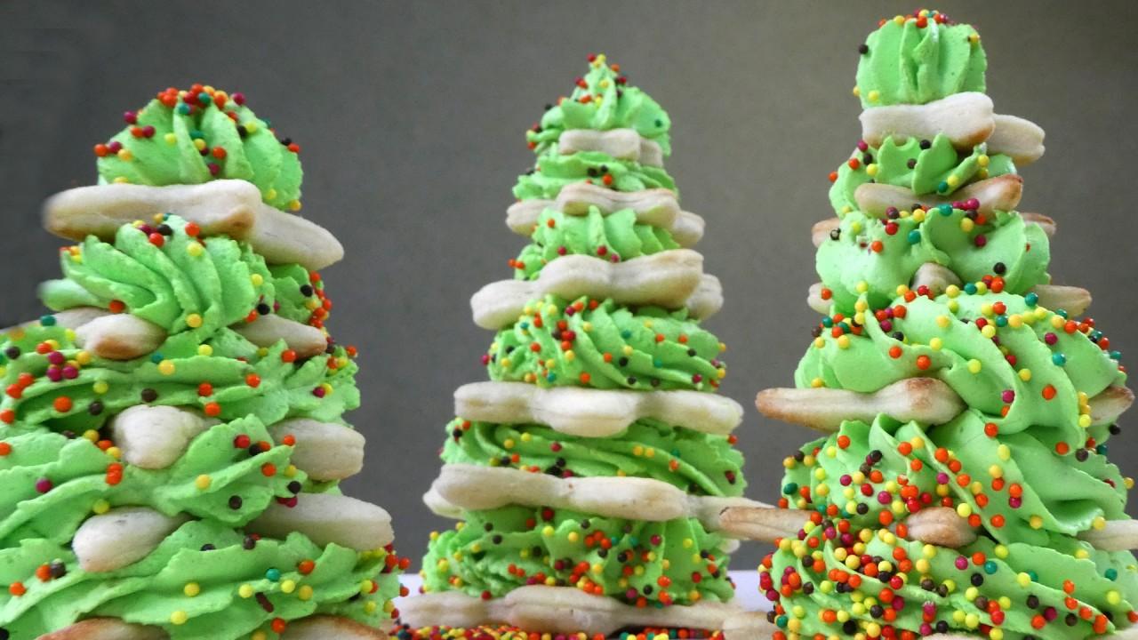 Новогодние ёлочки - самый простой десерт!