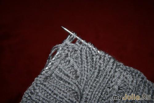 Носки, связанные на двух спицах БЕЗ ШВА