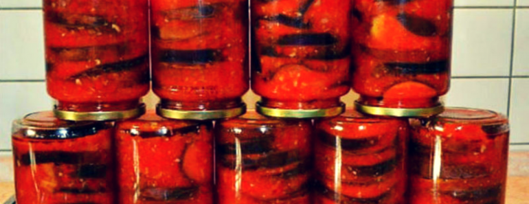Баклажаны в томатном соке