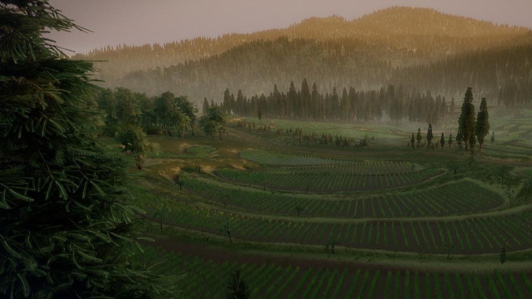 Создание открытых пространств и растительности в Unreal Engine 4