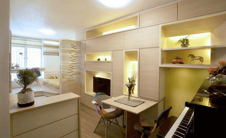 30 кв. м. для троих человек: квартира-галерея