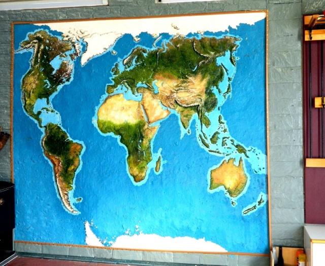 Рельефная карта в гараже своими руками