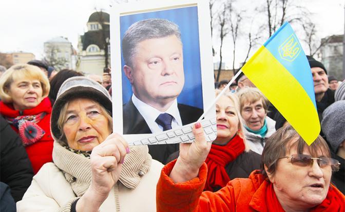 Киев в натуре: Борщ, сало и 100 гр. горилки — как Порошенко победу куёт