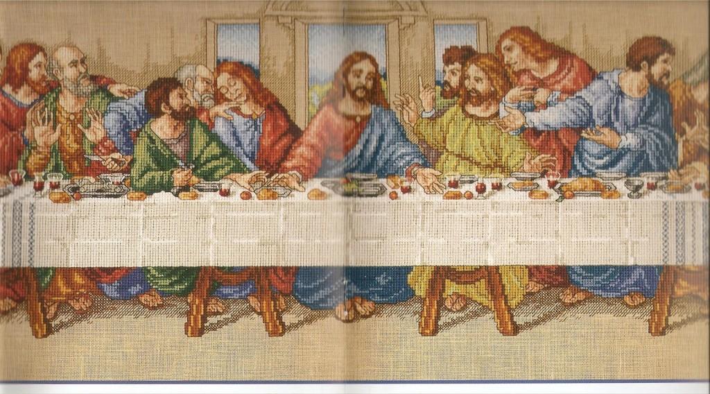 Тайное вечере схема вышивки крестом