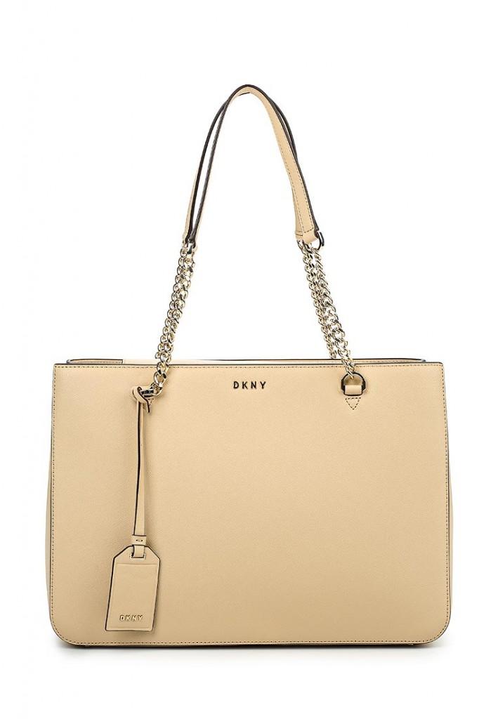DKNY сумка бежевая