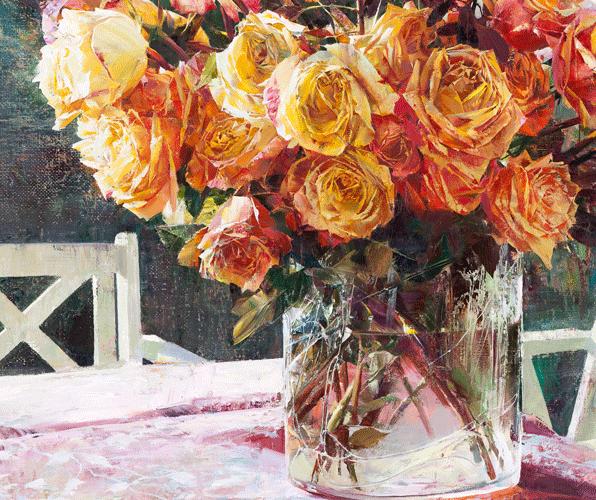 Роскошные цветы как признание в любви — прекрасные натюрморты Псаревой Ларисы
