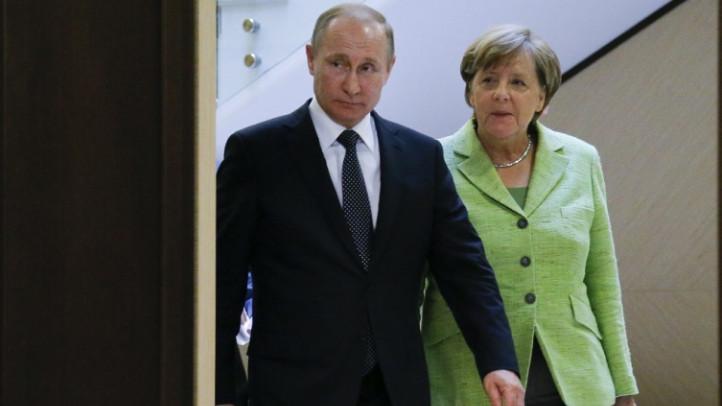 Встреча Владимира Путина и Ангелы Меркель закончилась.