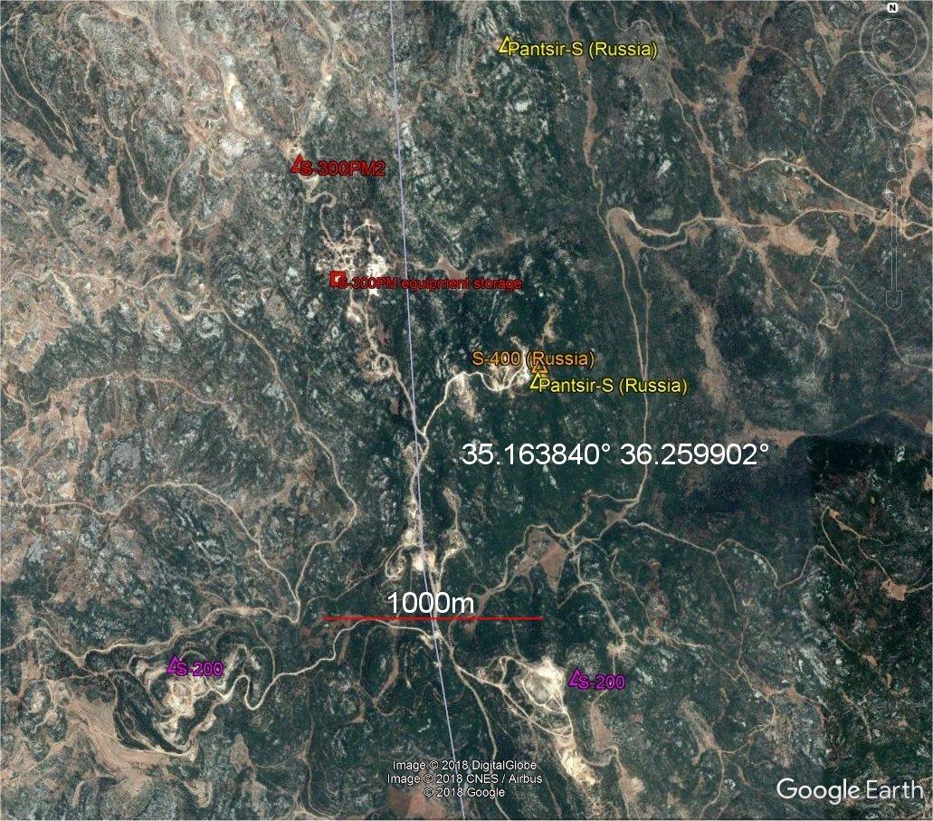 Система С-300ПМ-2, переданная Россией Сирии, размещена так, чтобы свести риск инцидентов к минимуму