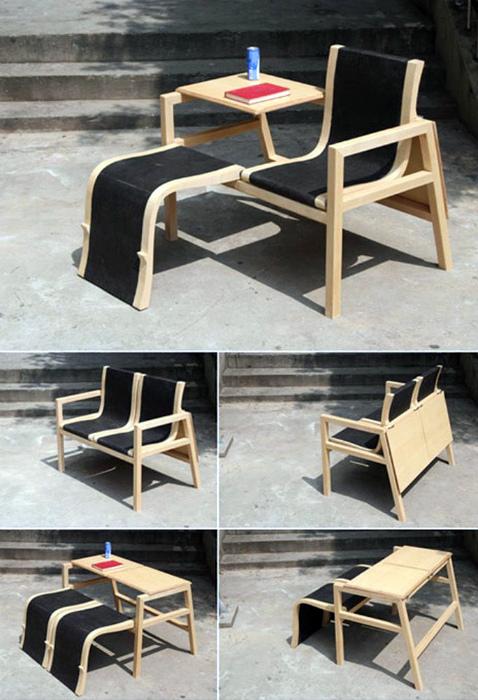 Комплект трансформируемой садовой мебели.
