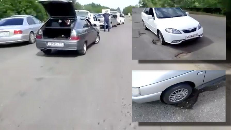 """На """"убитой"""" дороге в Нижнекамске взбунтовались водители"""