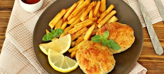 рыбные котлеты из минтая с картошкой