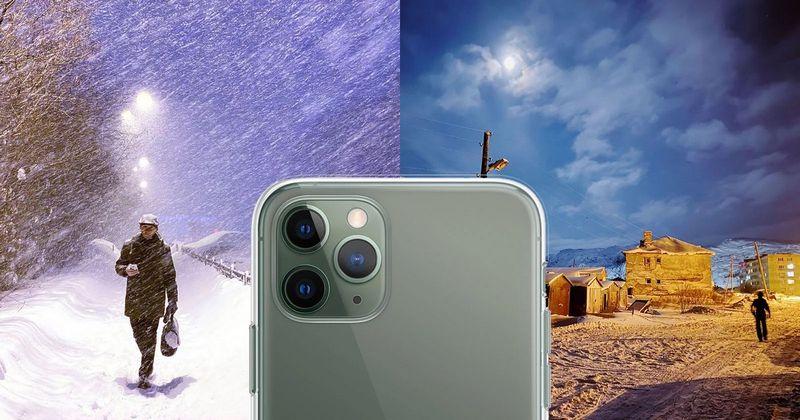 Полярная ночь в Мурманске через объектив iPhone 11 Pro