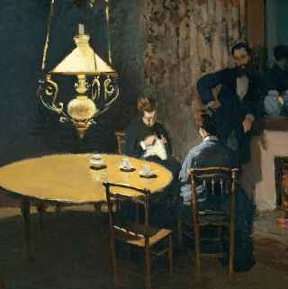Интерьер после ужина / An Interior After Diner. 1869г. Клод Моне