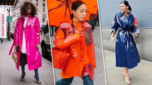 Как стильно носить дождевик весной