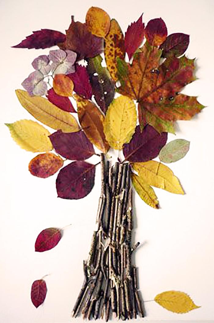 Поделки из листьев и цветов 80