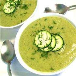 Кабачковый суп-пюре с картофелем