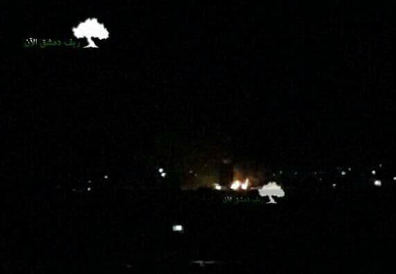 Израиль атаковал военную базу под Дамаском