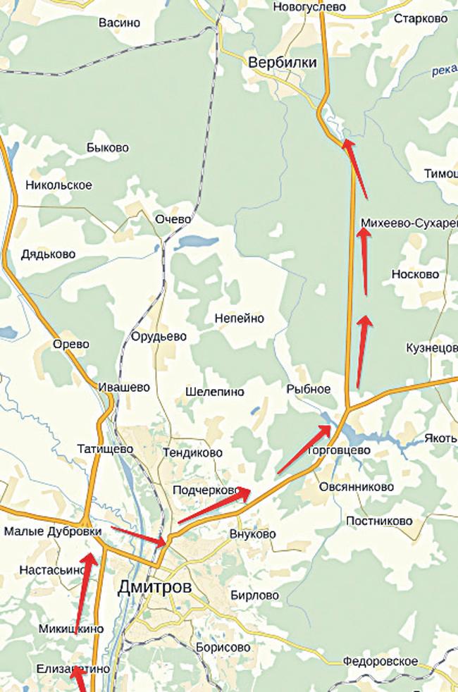 рыбалка по дмитровскому шоссе карта