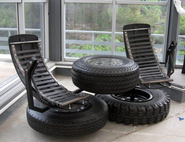 Что можно сделать из обычных старых шин