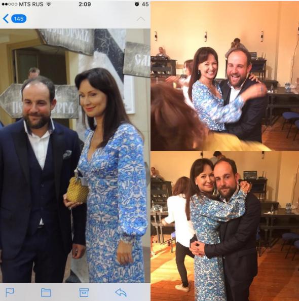 Александр Нестеров и Нонна Гришаева в театре на премьере мюзикла