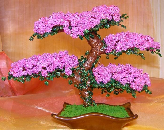 Денежное дерево из бисера своими руками