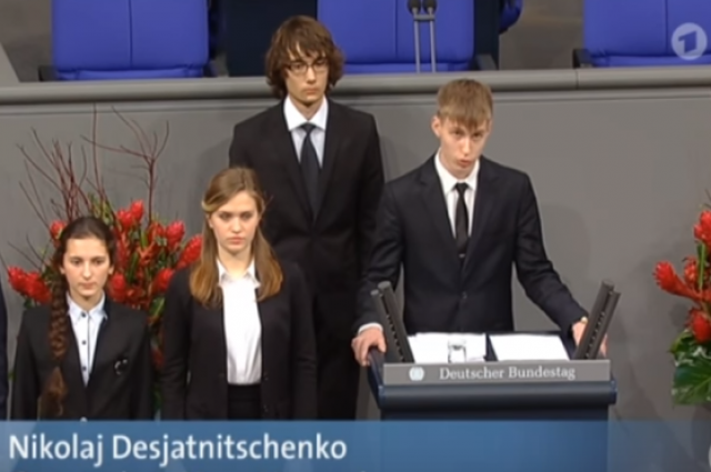 Директор гимназии получила выговор за выступление ученика в Бундестаге