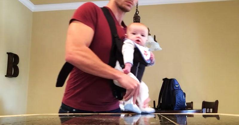 Папу оставили дома с маленькой дочкой. Он не растерялся и снял видео, которое покорило Сеть!