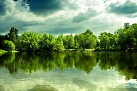 отражение в воде природа 12 (550x366, 182Kb)