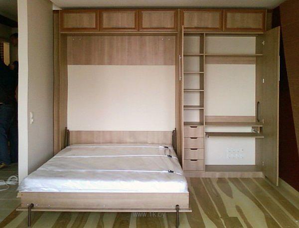 Встроенные кровати. Или дизайн однокомнатной квартиры!