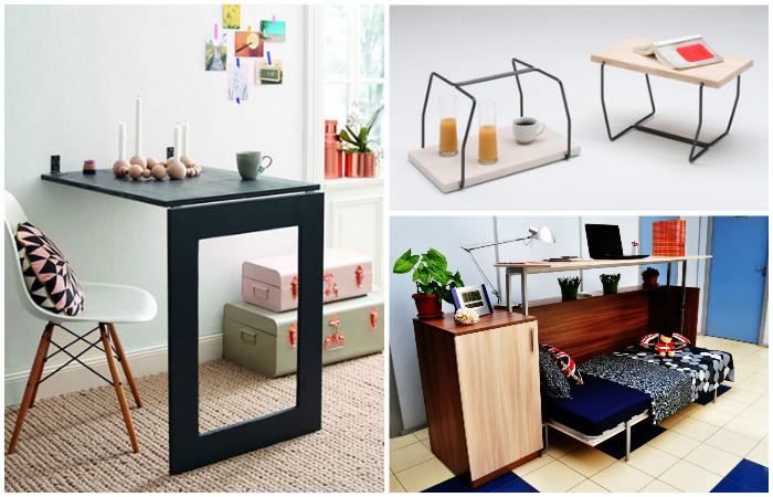 Трансформируемая мебель для маленькой квартиры: 14 идей, которые заметно сэкономят площадь