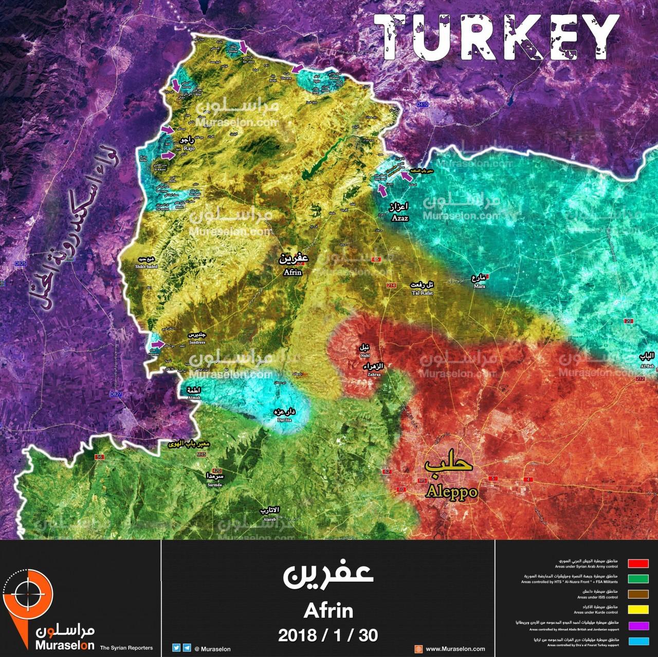 В Сирии уничтожена колонна турецкой военной техники
