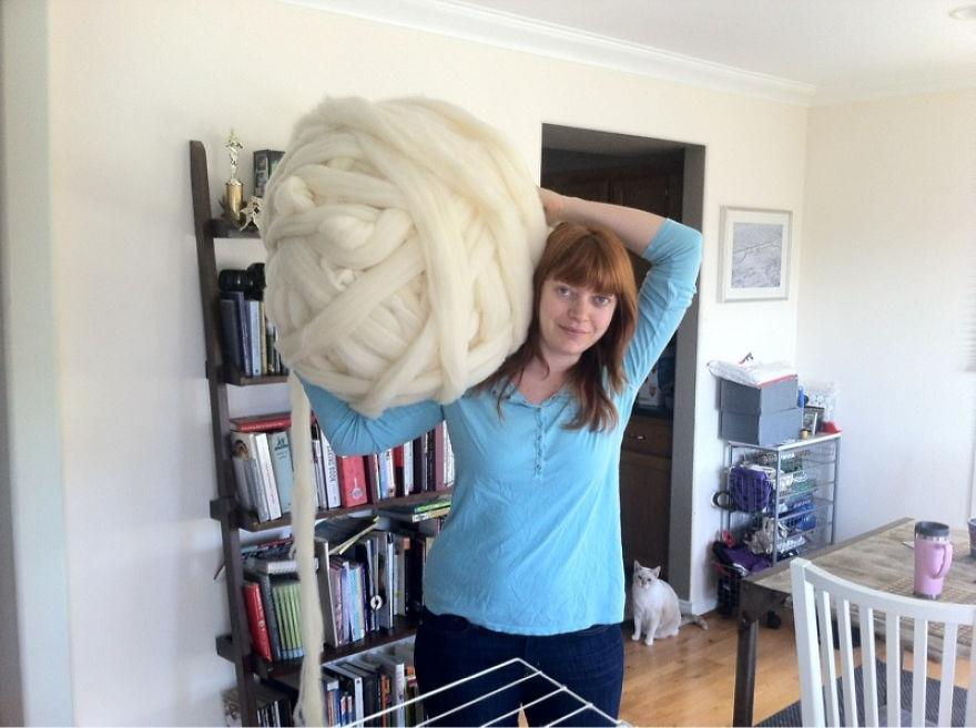 Плед крупной вязки вязание, одеяло