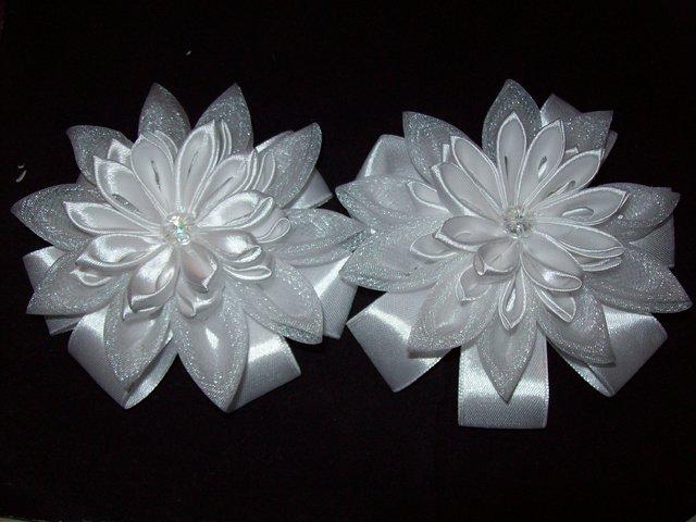 Цветы канзаши из лент своими руками фото