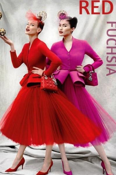 Модные цвета сезона — фуксия и красный