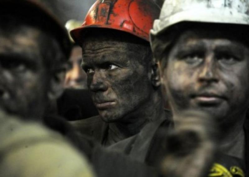 Луганские шахтеры третий ден…